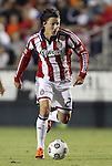 05 June 2012: Chivas USA's Ben Zemanski. The Carolina RailHawks (NASL) lost 1-2 to Club Deportivo Chivas USA (MLS) at WakeMed Soccer Stadium in Cary, NC in a 2012 Lamar Hunt U.S. Open Cup fourth round game.