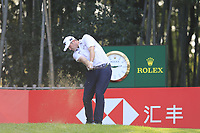 Jason Kokrak (USA) on the 17th tee during the final round of the WGC HSBC Champions, Sheshan Golf Club, Shanghai, China. 03/11/2019.<br /> Picture Fran Caffrey / Golffile.ie<br /> <br /> All photo usage must carry mandatory copyright credit (© Golffile | Fran Caffrey)