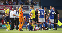 Blackburn Rovers and Ipswich Town at the end of todays match<br /> <br /> Photographer Rachel Holborn/CameraSport<br /> <br /> The EFL Sky Bet Championship - Ipswich Town v Blackburn Rovers - Saturday 4th August 2018 - Portman Road - Ipswich<br /> <br /> World Copyright &copy; 2018 CameraSport. All rights reserved. 43 Linden Ave. Countesthorpe. Leicester. England. LE8 5PG - Tel: +44 (0) 116 277 4147 - admin@camerasport.com - www.camerasport.com