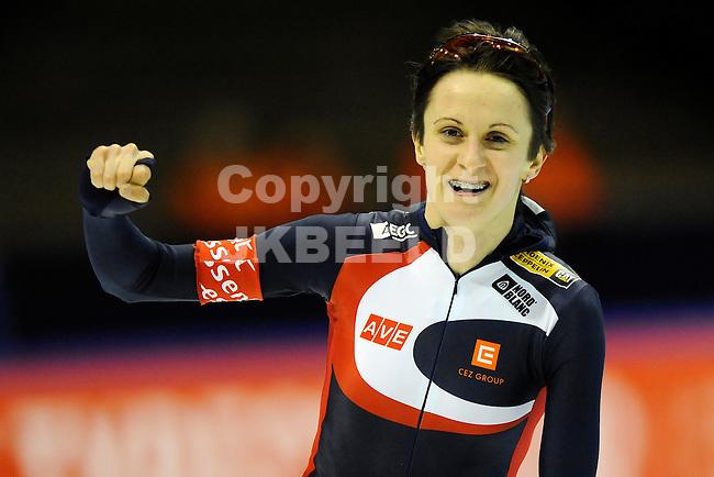 HEERENVEEN - Schaatsen, WK afstanden, Tialf stadion, 3000 meter vrouwen, seizoen 2011-2012, 22-3-2012 Martina Sablikova
