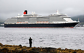 Cunard's Queen Victoria sails up the Clyde (past the Cloch Lighthouse, near Gourock) on its first ever port of call in Scotland, when it arrived at Greenock today (Wed). The 90,000 tonne vessel docked at The Ocean Terminal on Wednesday, part of an eleven day UK wide tour the luxury liner will make on its maiden voyage. It will take in Dublin, Belfast, Cobh and Liverpool, among other ports, on its way - Picture by Donald MacLeod 28.07.10 - mobile 07702 319 738 - clanmacleod@btinternet.com