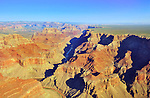 Aerial view of the Grand Canyon located in Arizona, USA.