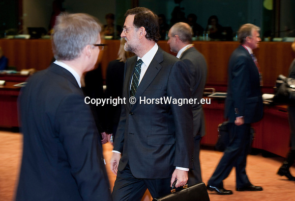 Brussels-Belgium - December 14, 2012 -- European Council, EU-summit meeting of Heads of State / Government; here, Mariano RAJOY BREY, Prime Minister of Spain, on the second day of the European Summit -- Photo: © HorstWagner.eu