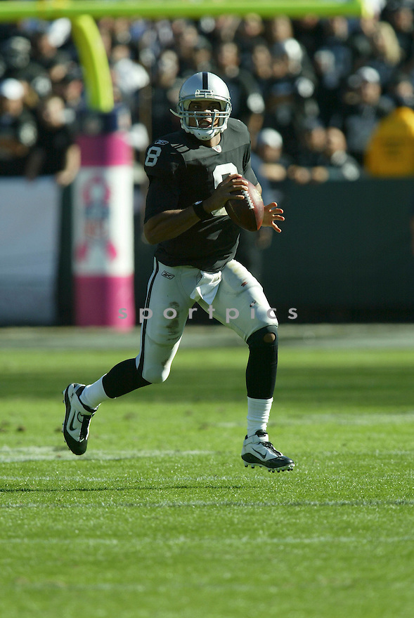 JASON CAMPBELL, of the Oakland Raiders, in action during the Raiders  game against the Seattle Seahawks on October 31, 2010 at Oakland-Alameda County Coliseum in Oakland, California.  .The Raiders beat the Seahawks 33-3...