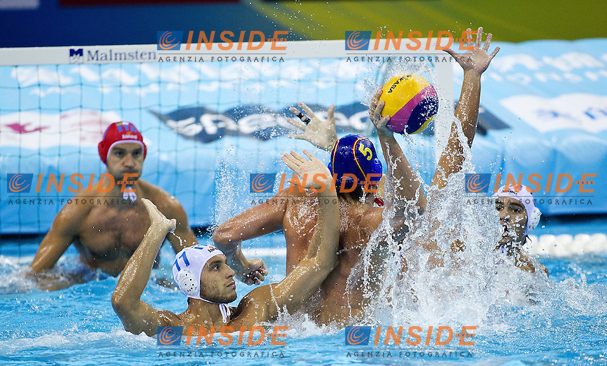 Shanghai , China (CHN) 16-31 July 2001.XIV FINA Swimming World Championships.day 11 Quarter Finals.Italy Vs. Spain ..Water Polo.Photo Insidefoto / Giorgio Scala