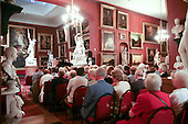 Audience waiting for a performance by Ian Shaw, singer/songwriter, Petworth House, Petworth Festival, West Sussex.