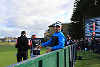 Bernd Wiesberger (AUT) on the 17th tee during Round 3 of the Alfred Dunhill Links Championship 2019 at St. Andrews Golf CLub, Fife, Scotland. 28/09/2019.<br /> Picture Thos Caffrey / Golffile.ie<br /> <br /> All photo usage must carry mandatory copyright credit (© Golffile | Thos Caffrey)