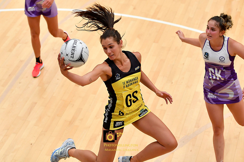 Pulse' Ameliaranne Ekenasio in action during the Netball Pre Season Tournament - Pulse v Stars at Ngā Purapura, Otaki, New Zealand on Saturday 9 February  2019. <br />