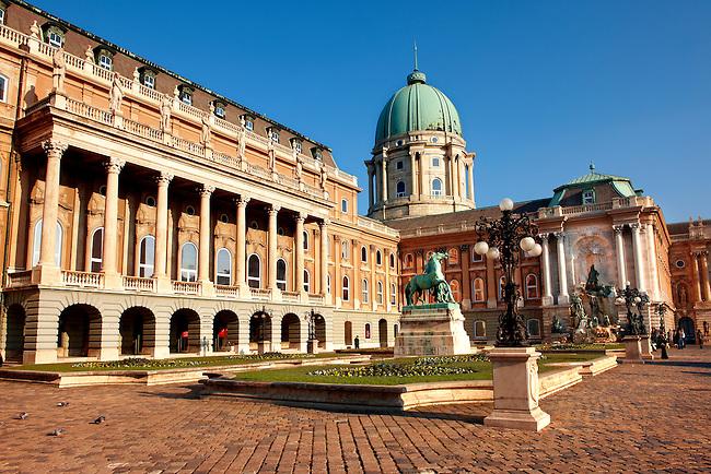 The Hungarian Nemzeti Gallery - Buda Castle, Budapest, Hungary