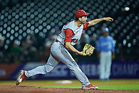 North Carolina State Wolfpack relief pitcher Sean Adler (29) in action against the North Carolina Tar Heels in Game Twelve of the 2017 ACC Baseball Championship at Louisville Slugger Field on May 26, 2017 in Louisville, Kentucky. The Tar Heels defeated the Wolfpack 12-4. (Brian Westerholt/Four Seam Images)