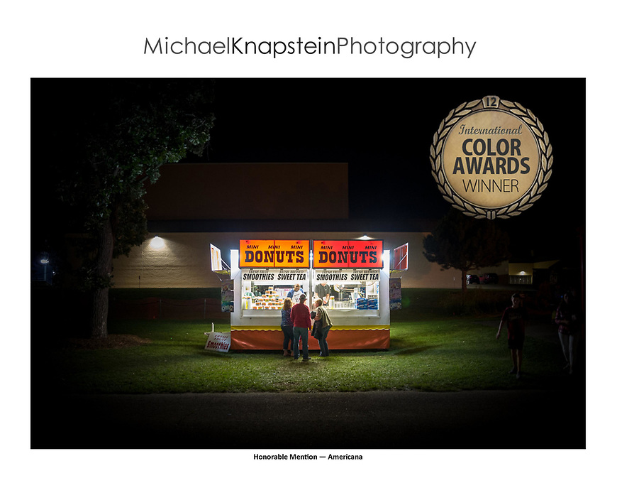 """Mini Donuts"" by Michael Knapstein won Honorable Mention in the ""Americana"" category of the International Color Awards."