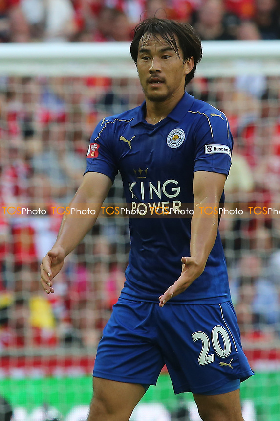 Shinji Okazaki of Leicester City during Leicester City vs Manchester United, FA Community Shield Football at Wembley Stadium on 7th August 2016