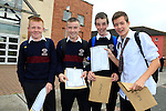 Jack Thompson, Ben Watters, Conor Kavanagh and Niall Bedford<br /> who collected there Junior cert results<br /> Picture Fran Caffrey www.newsfile.ie