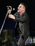 U2 performs live during their 360° Tour ,the show was being broadcast live on youtube from The Rose Bowl in Pasadena, California on October 25,2009                                                                   Copyright 2009 DVS / RockinExposures