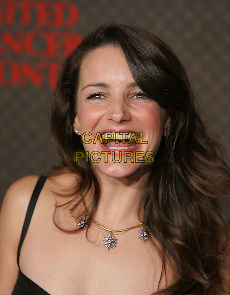 KRISTIN DAVIS.The 2nd Annual Louis Vuitton United Cancer Front Gala held at Universal Studios, Stage 24 in Universal City, California .November 8th, 2004.headshot, portrait, diamond necklace, laughing smiling.www.capitalpictures.com.sales@capitalpictures.com.©Debbie Van Story/Capital Pictures