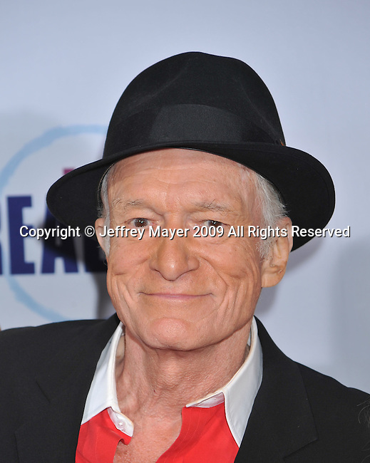 HOLLYWOOD, CA. - October 13: Hugh Hefner  arrives at the 2009 Fox Reality Channel Really Awards at the Music Box at the Fonda Theatre on October 13, 2009 in Hollywood, California.