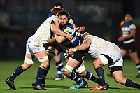Elliott Stooke of Bath Rugby takes on the Worcester Warriors defence. Aviva Premiership match, between Worcester Warriors and Bath Rugby on January 5, 2018 at Sixways Stadium in Worcester, England. Photo by: Patrick Khachfe / Onside Images