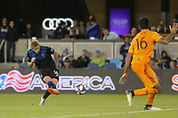 SAN JOSE, CA - JUNE 26: Jackson Yueill #14 during a Major League Soccer (MLS) match between the San Jose Earthquakes and the Houston Dynamo on June 26, 2019 at Avaya Stadium in San Jose, California.