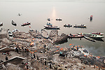 Varanasi where the faithful Hindus' come from every part of India to burn the bodies of their deceased relatives to throw the ashes in the holy river, India 2013