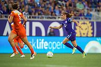 Orlando, FL - Thursday June 23, 2016: Alex Morgan during a regular season National Women's Soccer League (NWSL) match between the Orlando Pride and the Houston Dash at Camping World Stadium.