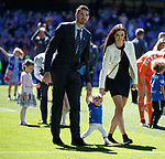 12.05.2019 Rangers v Celtic: Kyle Lafferty and family