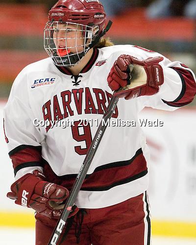 Lyndsey Fry (Harvard - 9) - The visiting Dartmouth College Big Green defeated the Harvard University Crimson 3-2 on Wednesday, November 23, 2011, at Bright Hockey Center in Cambridge, Massachusetts.