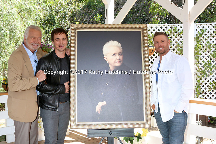 """LOS ANGELES - APR 14:  John McCook, Darin Brooks, Susan Flannery Portrait, Jacob Young at the """"Home and Family"""" Celebrates """"Bold and Beautiful's"""" 30 Years at Universal Studios Back Lot on April 14, 2017 in Los Angeles, CA"""