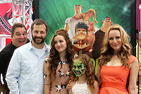 "LOS ANGELES - AUG 5:  Judd Apatow, Maude Apatow, Iris Apatow, Leslie Mann arrives at the ""ParaNorman"" Premiere at Universal CityWalk on August 5, 2012 in Universal City, CA © mpi27/MediaPunch Inc"