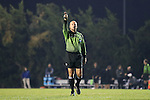 18 November 2016: Referee Bill Dittmar. The University of North Carolina Tar Heels played the University of Kansas Jayhawks at Fetzer Field in Chapel Hill, North Carolina in a 2016 NCAA Division I Women's Soccer Tournament Second Round match. UNC won the game 2-0.
