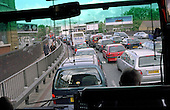Rush hour traffic in West London