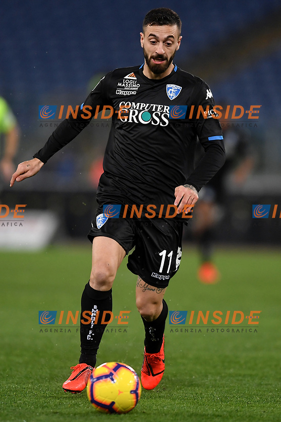 Francesco Caputo of Empoli in action during the Serie A 2018/2019 football match between Lazio and Empoli at stadio Olimpico, Roma, February 7, 2019 <br />  Foto Andrea Staccioli / Insidefoto