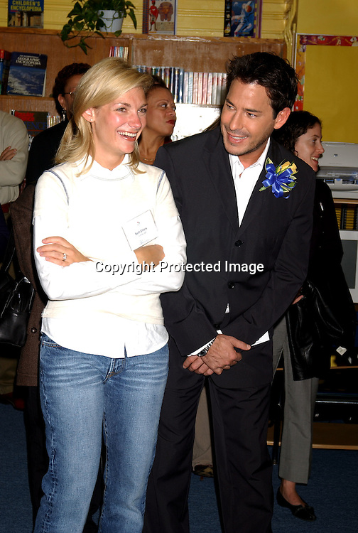 ..Beth Ehlers and Ricky Paull Goldin of Guiding Light..at Mahalia Jackson PS 123 School in Manhattan ..for the dedication of their new library donated by  ..Winston & Strawn Law firm  on October 8, 2003 . ..Photo by Robin Platzer, Twin Images