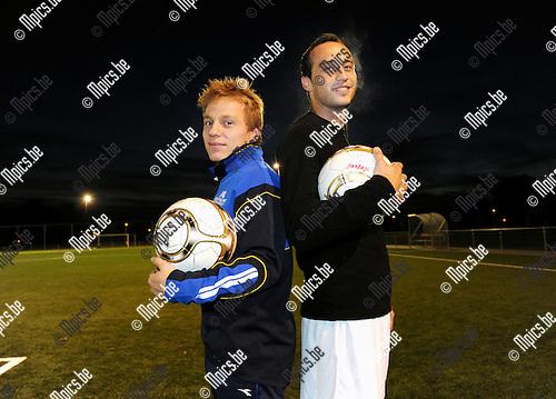 2012-10-09 / Voetbal / seizoen 2012-2013 / White Star Schorvoort / Robben (l.) en Jasenko Ibrahimovic<br /> <br /> Foto: Mpics.be