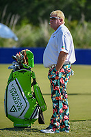 John Daly (USA) warms up no the practice green during Round 2 of the Zurich Classic of New Orl, TPC Louisiana, Avondale, Louisiana, USA. 4/27/2018.<br /> Picture: Golffile | Ken Murray<br /> <br /> <br /> All photo usage must carry mandatory copyright credit (&copy; Golffile | Ken Murray)