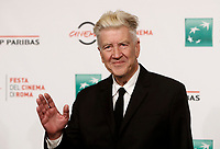 Il regista americano David Lynch posa per un pphotocall durante la Festa del Cinema di Roma, 4 novembre 2017.<br /> US David Lynch poses during a photocall at the12th Rome Film Festival in Rome, November 4, 2017.<br /> UPDATE IMAGES PRESS/Isabella Bonotto