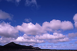 Afrika, ESP, Spain, Canary Islands, Lanzarote, National park Timanfaya, Cumulus clouds, Volcanic Landscape....[ For each utilisation of my images my General Terms and Conditions are mandatory. Usage only against use message and proof. Download of my General Terms and Conditions under http://www.image-box.com or ask for sending. A clearance before usage is necessary...Material is subject to royalties. Each utilisation of my images is subject to a fee in accordance to the present valid MFM-List...Contact | archive@image-box.com | www.image-box.com ]