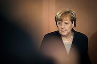 Bundeskanzlerin Angela Merkel (CDU) nimmt am Mittwoch (11.11.15) in Berlin an der Kabinettssitzung teil.<br /> Foto: Axel Schmidt/CommonLens