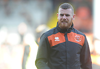 Blackpool Fitness Coach Adam Forrest during the pre-match warm-up <br /> <br /> Photographer Kevin Barnes/CameraSport<br /> <br /> The EFL Sky Bet League One - Blackpool v Southend United - Saturday 9th March 2019 - Bloomfield Road - Blackpool<br /> <br /> World Copyright © 2019 CameraSport. All rights reserved. 43 Linden Ave. Countesthorpe. Leicester. England. LE8 5PG - Tel: +44 (0) 116 277 4147 - admin@camerasport.com - www.camerasport.com
