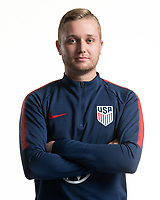 Rome, GA - Friday, June 21, 2019:  Para 7 USMNT headshot of Ethan Duffy.