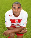 Darius Charles of Stevenage. Stevenage FC photoshoot -  Lamex Stadium, Stevenage . - 16th August, 2012. © Kevin Coleman 2012