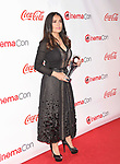 LAS VEGAS, CA - MARCH 30:  Actress Salma Hayek attends the CinemaCon Big Screen Achievement Awards at Omnia Nightclub at Caesars Palace during CinemaCon, the official convention of the National Association of Theatre Owners, on March 30, 2017 in Las Vegas, Nevada.