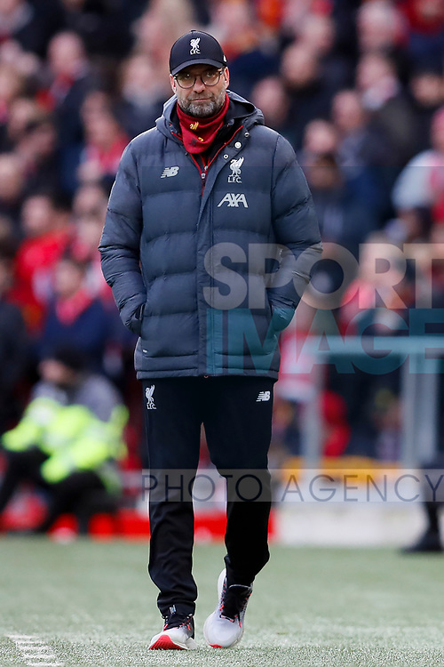 Liverpool manager Jurgen Klopp during the Premier League match at Anfield, Liverpool. Picture date: 1st February 2020. Picture credit should read: James Wilson/Sportimage