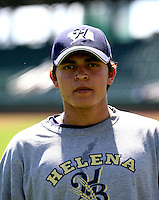 Jose Duran / Helena Brewers..Photo by:  Bill Mitchell/Four Seam Images