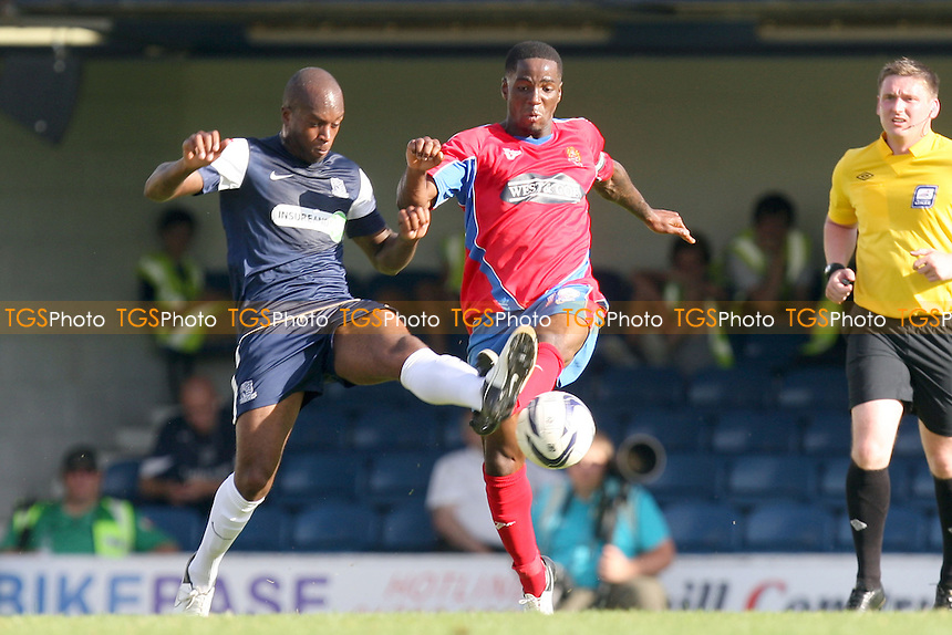 Abu Ogogo of Dagenham - Southend vs Dagenham at the London Borough of Roots Hall Stadium  - 08/09/12 - MANDATORY CREDIT: Dave Simpson/TGSPHOTO - Self billing applies where appropriate - 0845 094 6026 - contact@tgsphoto.co.uk - NO UNPAID USE.