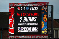 General View of the big screen showing Fleetwood Town's Wes Burns as man of the match<br /> <br /> Photographer Richard Martin-Roberts/CameraSport<br /> <br /> The EFL Sky Bet League One - Fleetwood Town v Shrewsbury Town - Saturday 13th October 2018 - Highbury Stadium - Fleetwood<br /> <br /> World Copyright &not;&copy; 2018 CameraSport. All rights reserved. 43 Linden Ave. Countesthorpe. Leicester. England. LE8 5PG - Tel: +44 (0) 116 277 4147 - admin@camerasport.com - www.camerasport.com