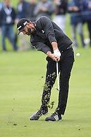 February 18, 2017: Dustin Johnson during the second round of the 2017 Genesis Open played at Riviera Country Club in Pacific Palisades, CA.