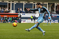 Joe Jacobson of Wycombe Wanderers during the Sky Bet League 2 match between Luton Town and Wycombe Wanderers at Kenilworth Road, Luton, England on 26 December 2015. Photo by David Horn.