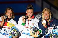 50 freestyle women<br /> CAMPBELL Cate, Australia AUS,silver medal<br /> KROMOWIDJOJO Ranomi, Netherlands NED, gold medal<br /> HALSALL Francesca, Great Britain GBR, bronze medal <br /> Swimming - Nuoto <br /> Barcellona 4/8/2013 Palau St Jordi <br /> Barcelona 2013 15 Fina World Championships Aquatics <br /> Foto Andrea Staccioli Insidefoto