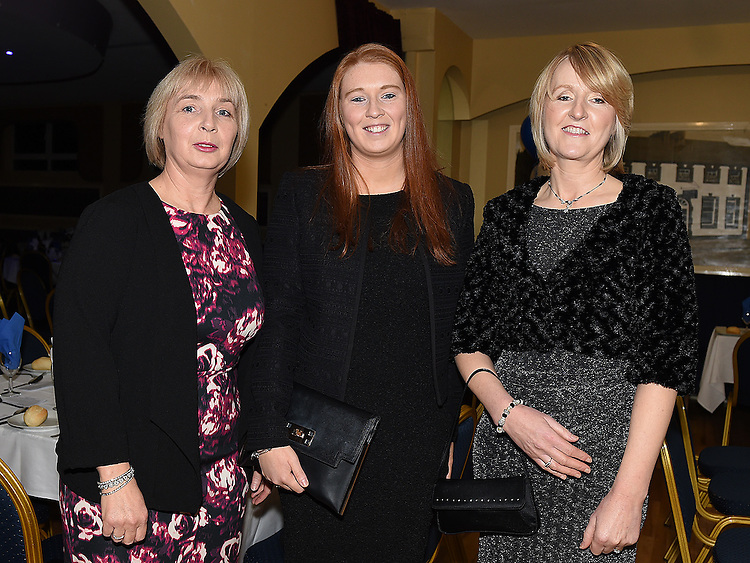 Anne and Sarah Clutterbuck and Pauline Morgan pictured at Naomh Mairtin Annual Reunion Dinner Dance in the Grove House Dunleer. Photo:Colin Bell/pressphotos.ie