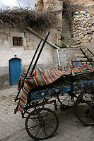 Gypsy cart in Goreme village, Cappadocia, Turkey